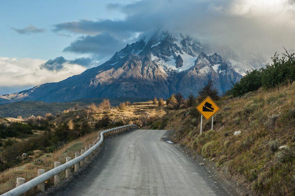 sulla ruta 40 in Patagonia, Torres del Paine, Cile